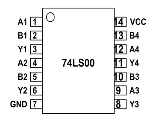 74ls00 chip diagram
