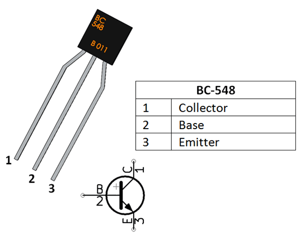 BC548 Transistor Pinout, Equivalent, Working As Amplifier/Switch