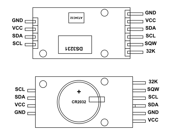 ds3231 rtc module pinout  configuration  example circuit