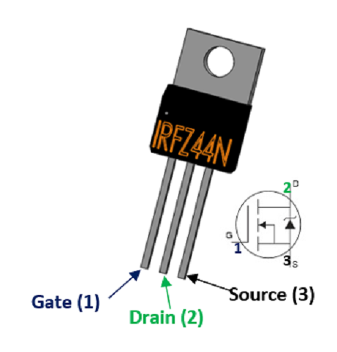 TO-220 IRFZ 44N Power MOSFET-First Class Post aujourd/'hui