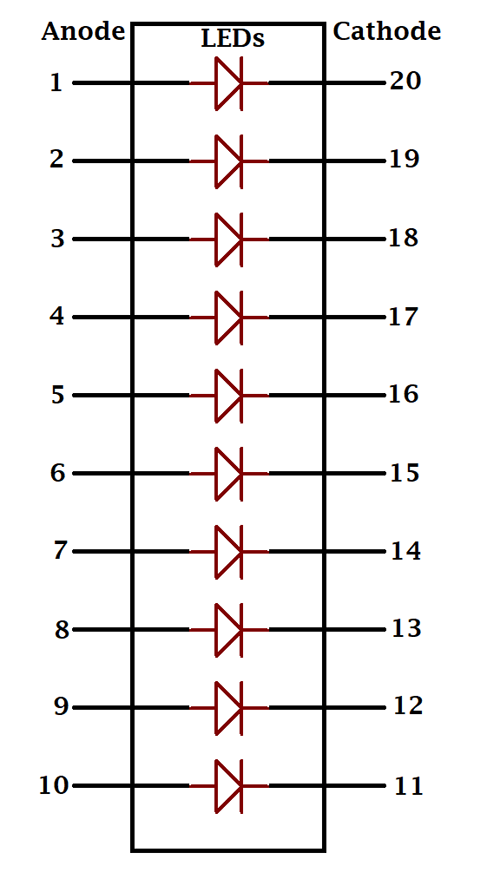 LED Bar Graph Pinout  Features  Connections   Datasheet