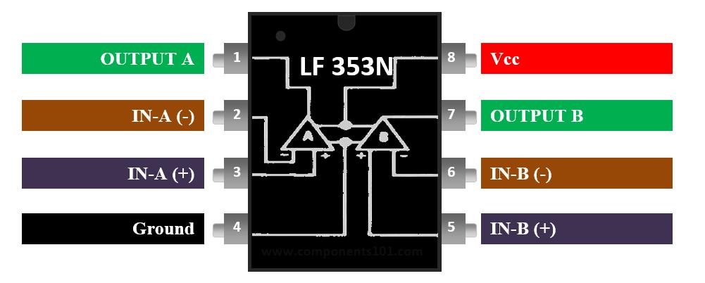 mi LF353 LF-353 10 Stücke Dip Jfet Dual Op Amp Betriebsverstärker LF353P
