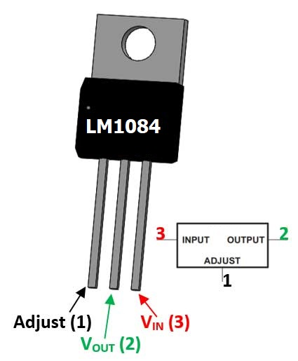 LM1084 Low Dropout Positive Regulator Pinout