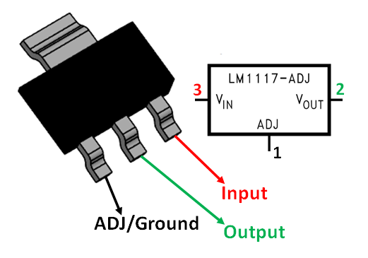 lm1117 linear voltage regulator pinout  features