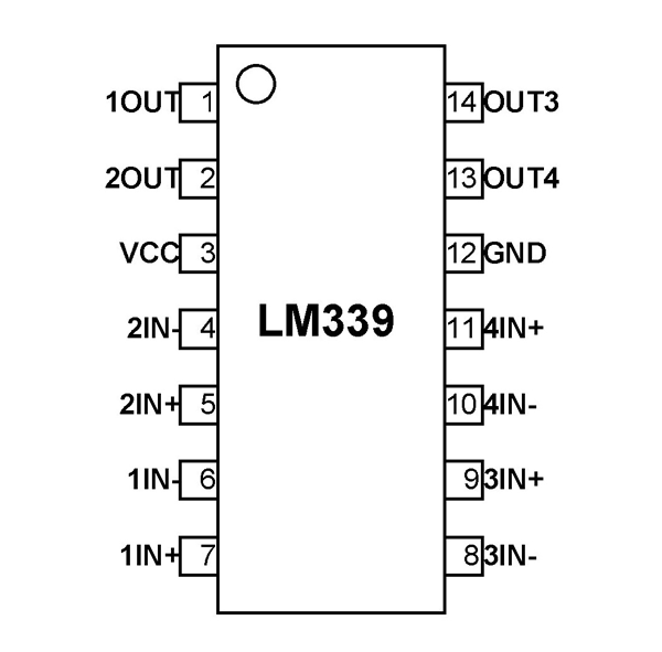 lm339 voltage comparator pinout  features  circuit  u0026 datasheet