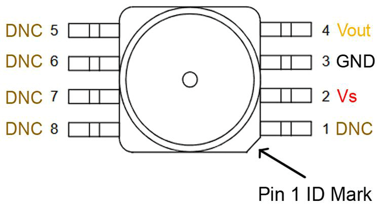 Pin Description of MPXV5004DP Pressure Sensor