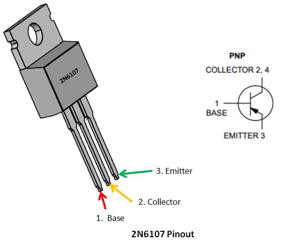 2n6107 transistor pinout, specs, circuit \u0026 datasheet Diode Pin Diagram
