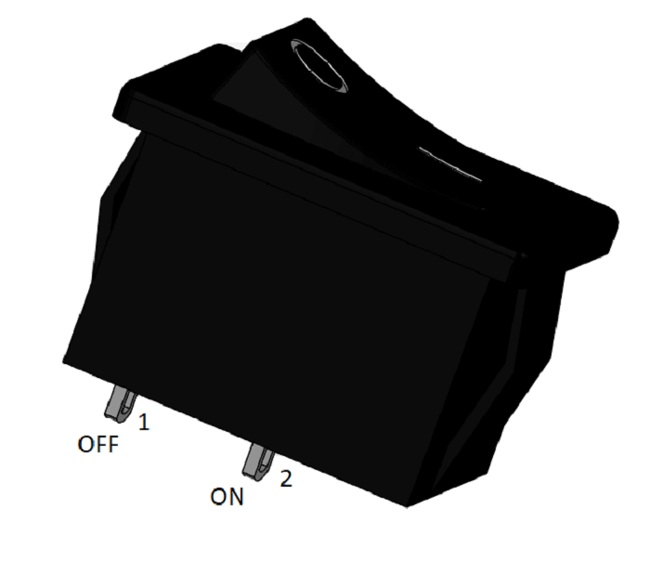SPST ON-OFF Rocker Switch Pinout
