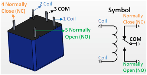 5v relay pin diagram