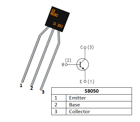5pcs. High Current Low Voltage S8050 NPN Silicon Transistor 700mA // 20V