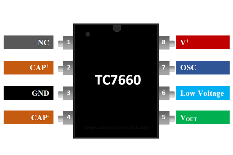 TC7660 Voltage Converter Pinout