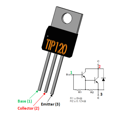 TIP120 Transistor Pinout, Datasheet, Equivalent & Features