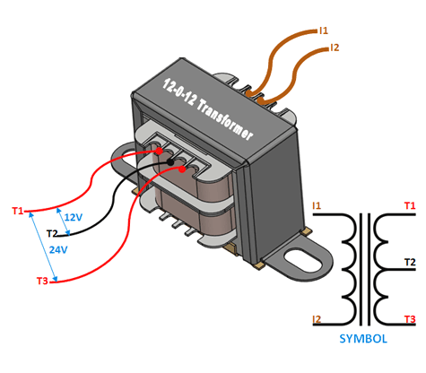 12 0 12 Centre Tapped Transformer Wiring Specifications How To Use It