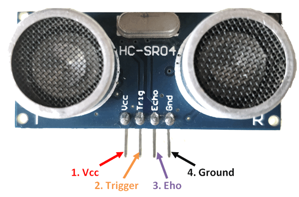 Ultrasonic Sensor HC SR04 Pin Diagram