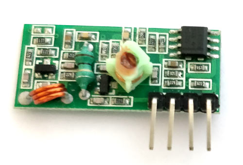 433 MHz RF Receiver Module Pinout, Specifications