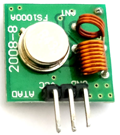 433 MHz RF Transmitter Module Pinout, Specifications ...