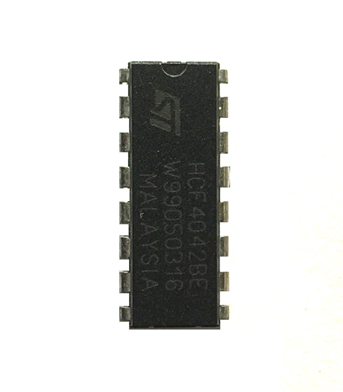 CD4042 - Quad Flip-Flop IC