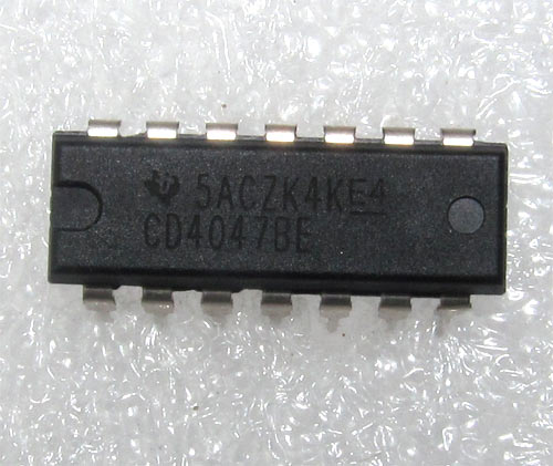 IC 4047: CMOS Low Power Monostable/Astable Multi-vibrator