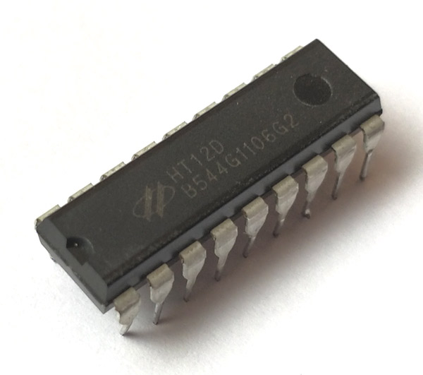 HT12D RF Decoder IC Pinout, Details, Equivalent & Datasheet