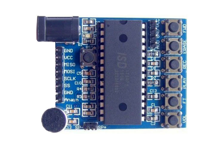 Voice Recorder/Playback Module using ISD1760