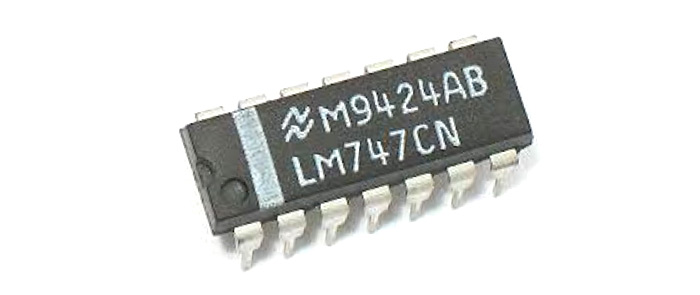 LM747 Pinout, Features, Equivalents, Application Circuit & Datasheet
