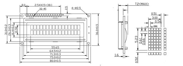 16x2 Lcd Module Pinout Diagrams Description Datasheet