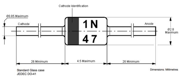 1N4733 Dimensions