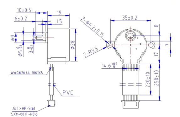 Byj Dimensions on 8 wire stepper motor wiring