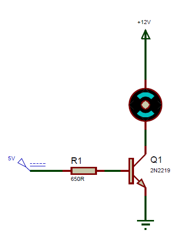 2N2219 Transistor Switch Circuit