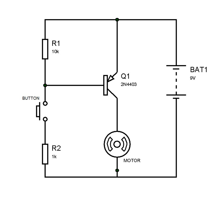 2N4403 Transistor Switching Circuit