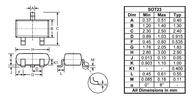 2N7002 MOSFET Pinout, Datasheet, Equivalents & Features