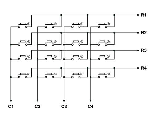 4x4 Keypad Module Pinout, Configuration, Features, Circuit & Datasheet