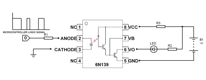 6n139 Optocoupler Pinout  Equivalent  U0026 Datasheet
