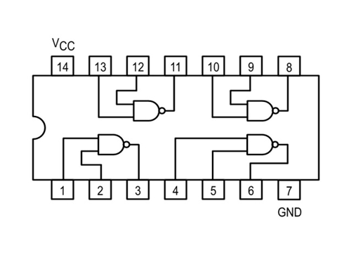 74ls00 pinout, configuration, equivalent, circuit \u0026 datasheet Pin Diagram 8085 74ls00 nand gates internal structure