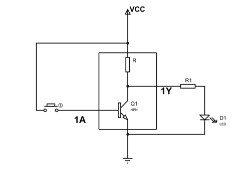 74ls04 not gate circuit