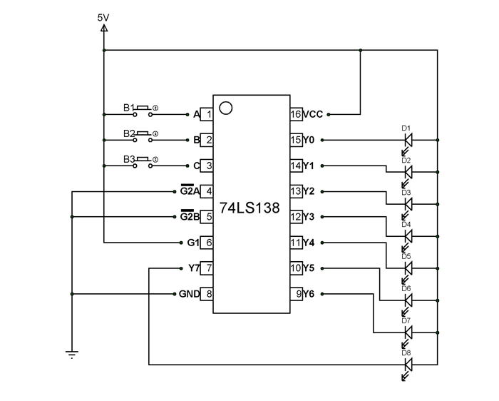 74ls138 decoder pinout  features  circuit  u0026 datasheet