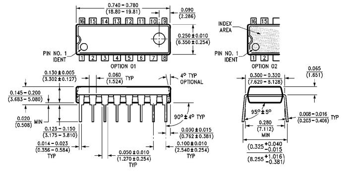 74ls139 ic dimensions