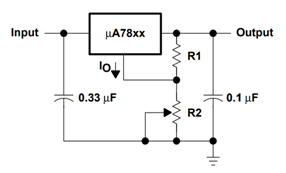 7805 as Output Regulator
