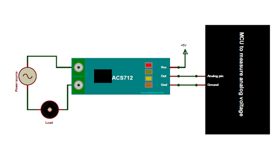 ACS712 Current Sensor Circuit Diagram