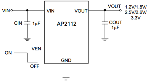 AP2112 Application Circuit
