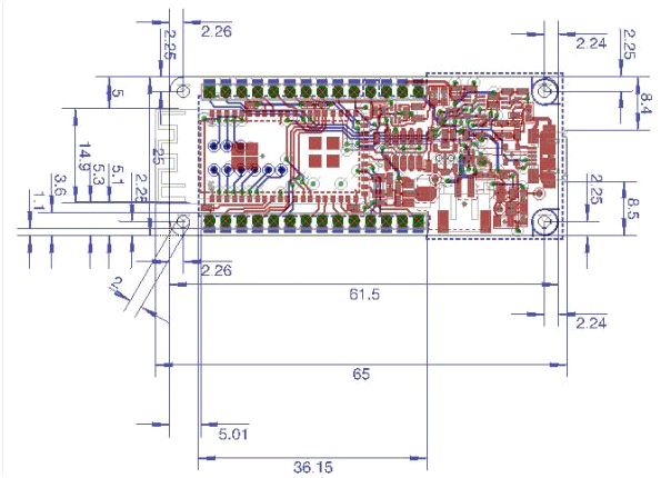 Arduino MKR1000 Dimensions