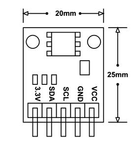 BMP180 Sensor Module Dimensions