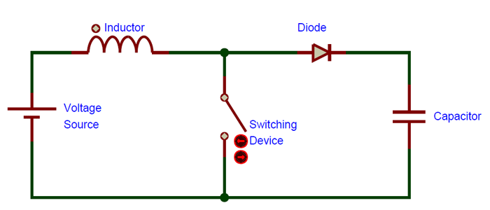 What is Boost Converter? Basics, Working, Operation & Design ... Dc Boost Converter Schematic on