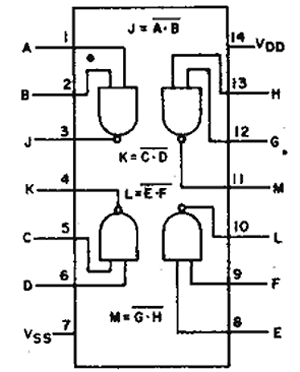CD4011 Internal Circuit