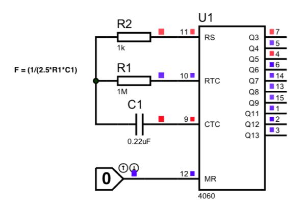 cd4060b binary counter ic pinout  datasheet  equivalent  specs  u0026 working