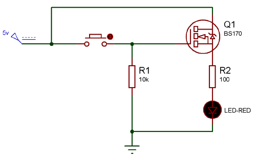 Circuit Using BS170 N-channel MOSFET