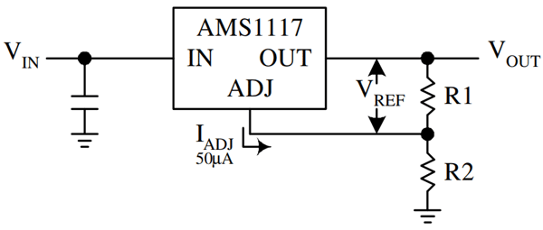 Circuit diagram for adjustable voltage
