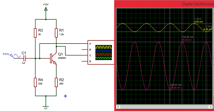 Circuit using 2N5551 NPN Amplifier Transistor