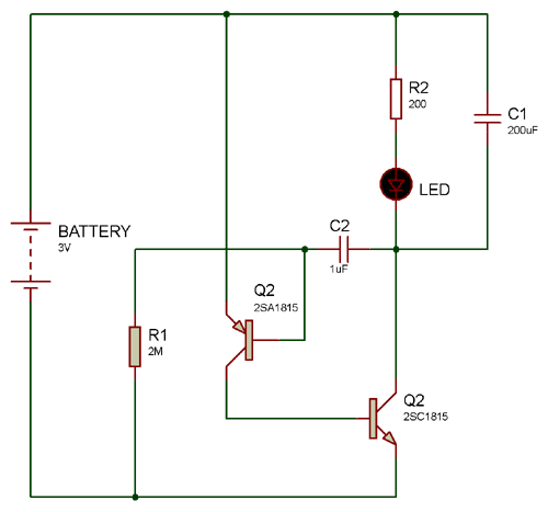 Circuit Using 2SA1015 PNP Transistor Pinout
