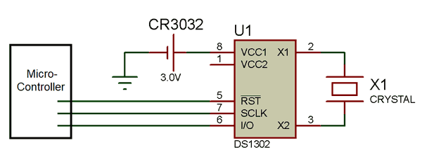 Circuit using DS1302